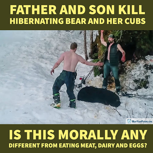 Father and Son Kill Hibernating Bear and Cubs | Meat Your Future